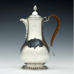 Victorian Silver Coffee Pot London 1886