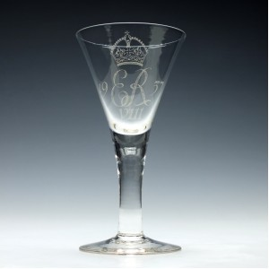 Reserved P.L - King That Never Was Edward VIII Coronation Glass Goblet 1937