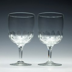 Pair of 19th Century Wine Goblets c1870