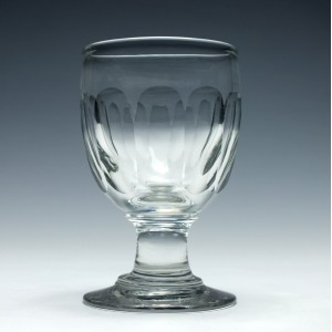 Mid 19th century glass rummer c1830