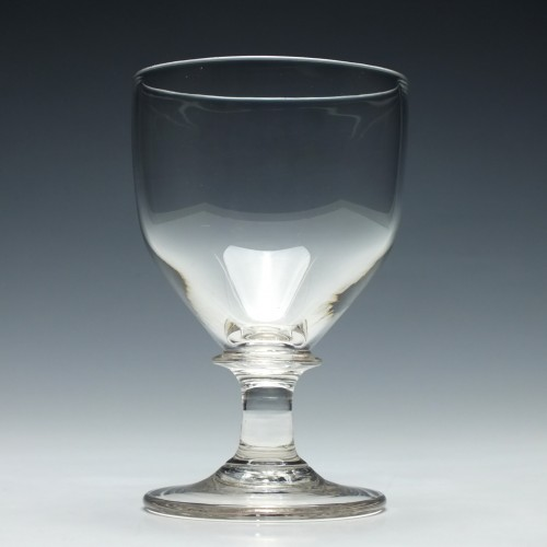 19th Century Ovoid Bowl Glass Rummer c1820