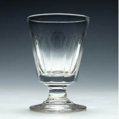 Early 19th century glass rummer c1830