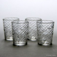 Four Stevens and Williams Dram Glasses c1920