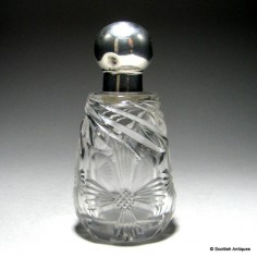 Silver Topped Perfume Bottle 1917