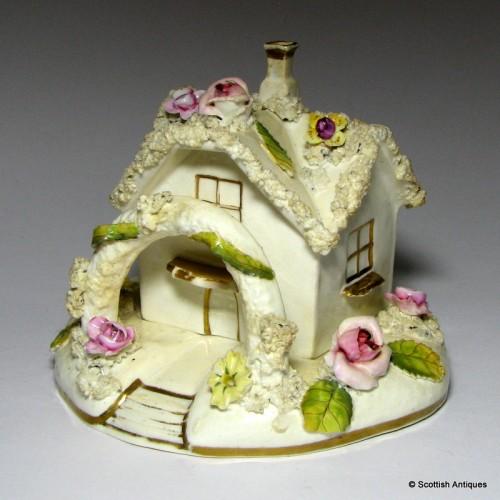 Two Piece Porcelain Pastille Burner c1845
