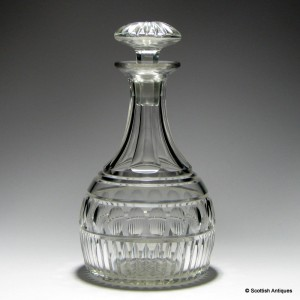 Victorian Cut Glass Spirit Decanter c1880