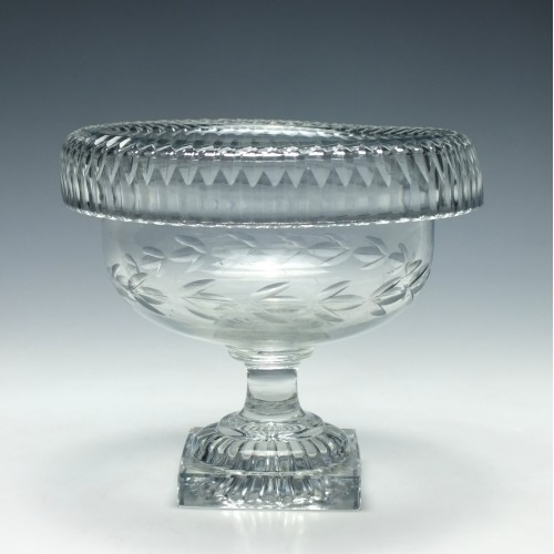 Irish Cut Glass Standing Bowl c1820