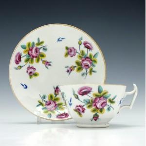 New Hall Porcelain Tea Cup & Saucer c1820