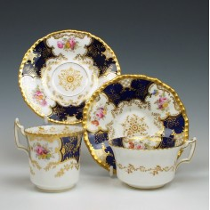 Coalport Porcelain Teacup Coffee Cup & Saucers c1890