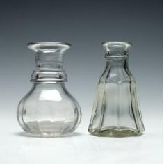 Two Glass Spirit Measures c1900