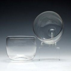 Six Victorian Glass Finger Bowls