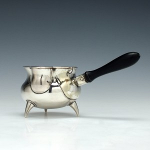 19th Century Silver Brandy Pan London c1840