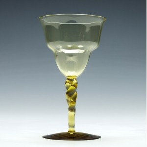 Whitefriars Twisted Stem Wine Glass c1890