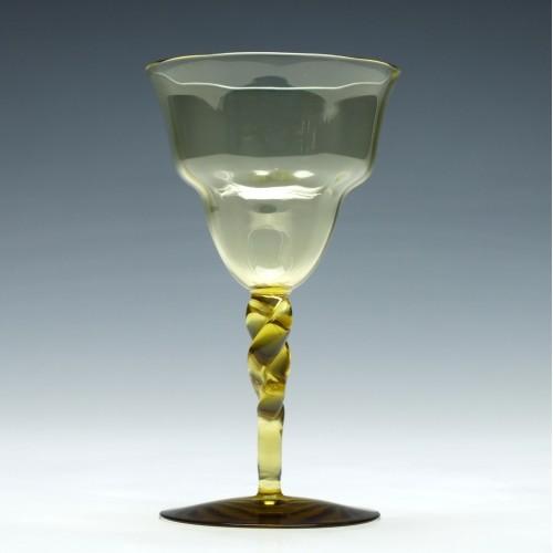Whitefriars Twisted Stem Wine Glass c1890