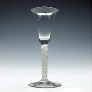 Dutch 18th Century Opaque Twist Wine Glass