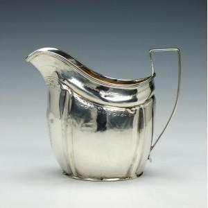 Silver Cream Jug Thomas Lamborn Sheffield 1805