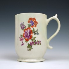 Lowestoft Porcelain Tulip Painter Mug, c1775