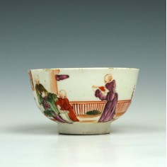 Lowestoft Yellow Window Pattern Teabowl, c1785