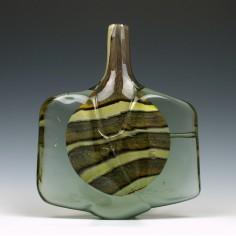 Large Signed Mdina Earthtones Fish Vase
