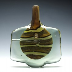 Signed Mdina Earthtones Fish Vase