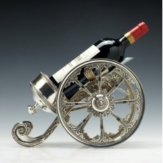 19th Century American Silver Plate Wine Coaster