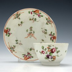 Porcelain Tea Bowl & Saucer c1790