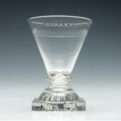 George IV Dram Glass with a Lemon Squeezer Foot c1810