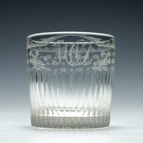 Engraved Georgian Glass Tumbler c1810