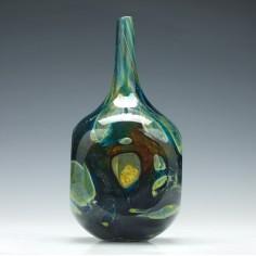 Mdina Sculptural Glass Bottle c1980