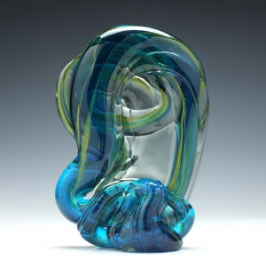 Michael Harris Designed Mdina Glass Sculpture c1970