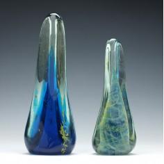 Two Mdina Glass Obelisks 1975-80