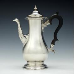 George V Silver Coffee Pot Birmingham 1921