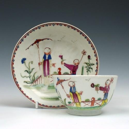 New Hall Porcelain Pattern 157 Tea Bowl & Saucer c1785