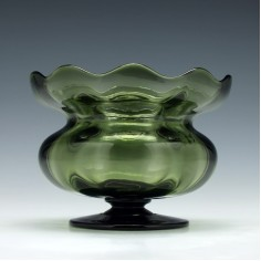 James Powell Ribbed Pedestal Bowl c1890