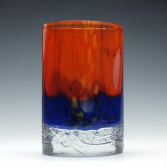 Signed Beranek Art Glass Vase c1980