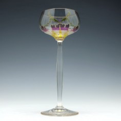 Theresienthal Enamelled Hock Flower Glass c1905