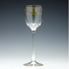 Theresienthal Enamelled Hock Wine Glass c1905