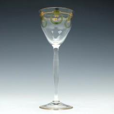 Josephinehutte Enamelled Hock Glass c1910