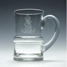 Limited Edition Edward VIII Coronation Glass Tankard c1937 Number 2363
