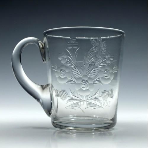 Elizabeth II Coronation Glass Tankard c1953