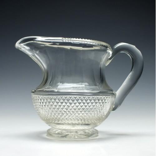 Unusual Victorian Glass Water Jug c1850