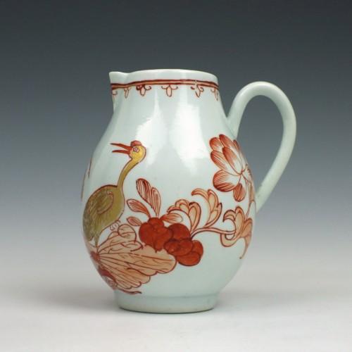 Richard Chaffers Robin Beak  Liverpool Porcelain Jug c1760