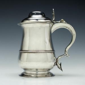 George III Silver Quart Tankard London 1760
