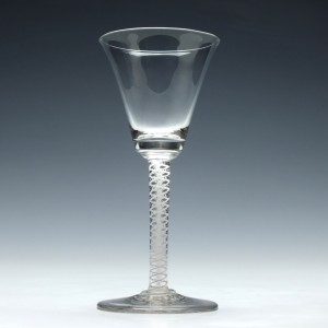 Scottish Opaque Twist Wine Glass c1810