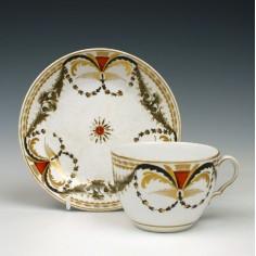 Uncommon Spode Porcelain Teacup & Saucer c1810