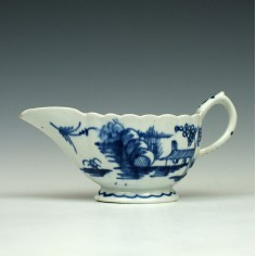 Bow Porcelain Desirable Residence Pattern Creamboat 1755-60