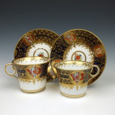 Chamberlains Worcester Porcelain Pattern 290 Cups & Saucers c1810