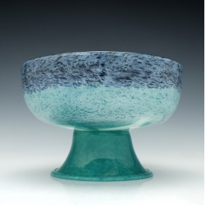 Rare Gray-Stan Footed Glass Bowl c1930