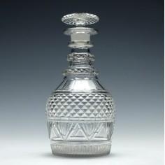 Georgian Cut Glass Prussian Decanter c1830