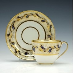 Derby Porcelain Teacup and Saucer c1790